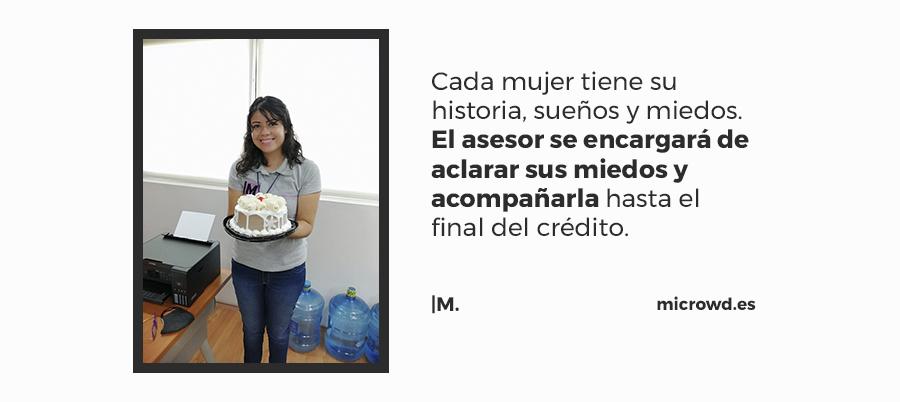 Lupita: Asesora de crédito